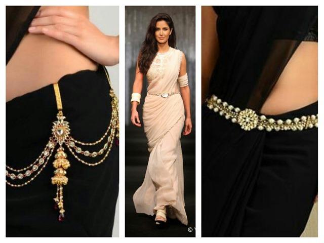 pearl waist belt for sari]