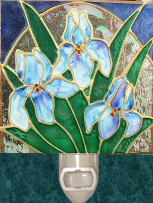 Iris in blue bouquet
