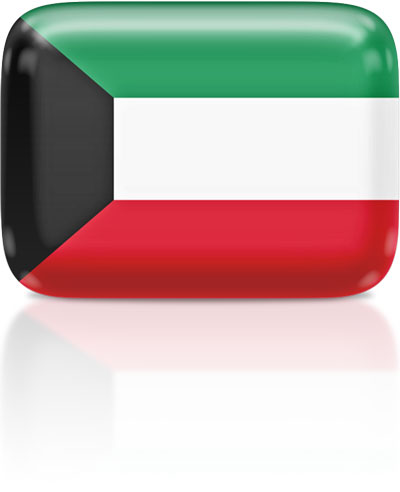 Kuwaiti flag clipart rectangular