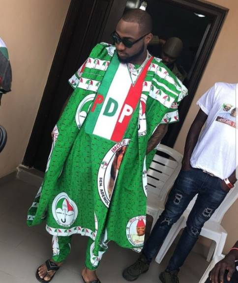 Davido Is Flouting Nysc Rules By Wearing PDP Uniforms – Wale Gates