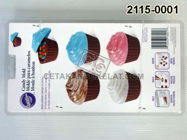 Cetakan Coklat Tray Kue Cupcake cokelat wilton 2115-0001 3DCupcake