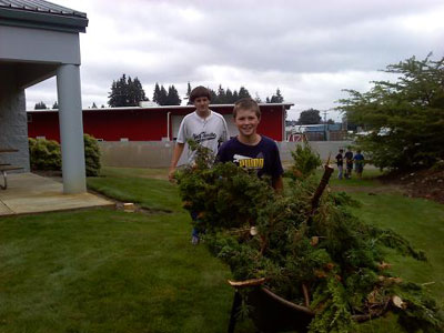 Landscape Clean Up at South Bay Fire Station