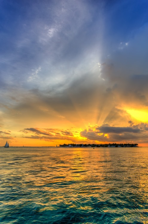Sunset over sunset Key Florida Keys
