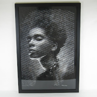 Craig Tinsky Cut Paper Portrait (Black Frame)