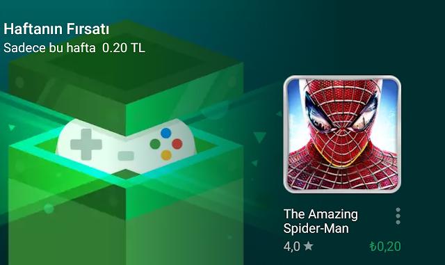 Google Play İndirim: The Amazing Spider-Man