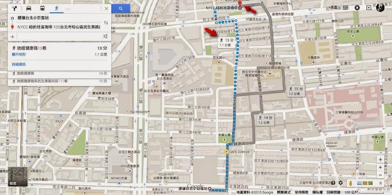 捷运台北小巨蛋站 至 NYCC 紐約社區咖啡 - Google 地圖.jpg