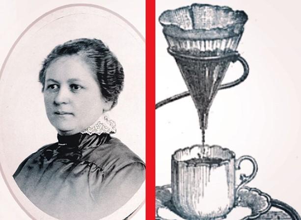 Amalie Auguste Melitta Bentz creó el filtro de café.