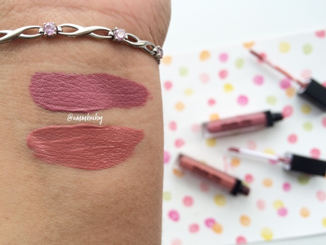 sleek matte me NC40 swatches birthday suit and shabby chic