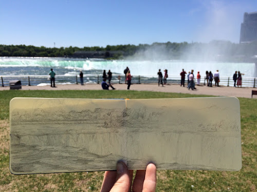 Sketch of Horseshoe Falls.