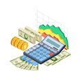 Financial Analytics Bookkeeping Concept Free Download Vector CDR, AI, EPS and PNG Formats