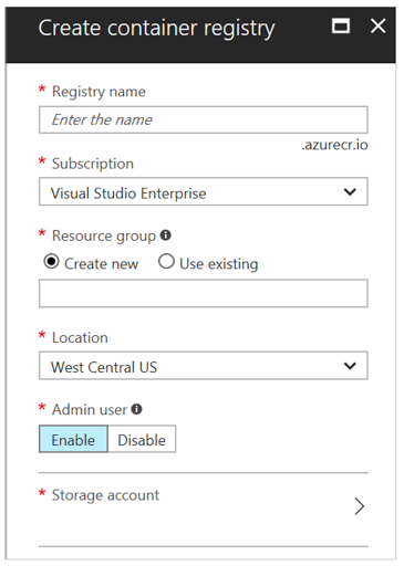 create registry