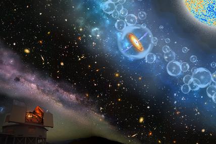 ilustração do buraco negro supermassivo mais distante já descoberto