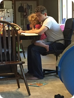 Ben & Liberty doing devos