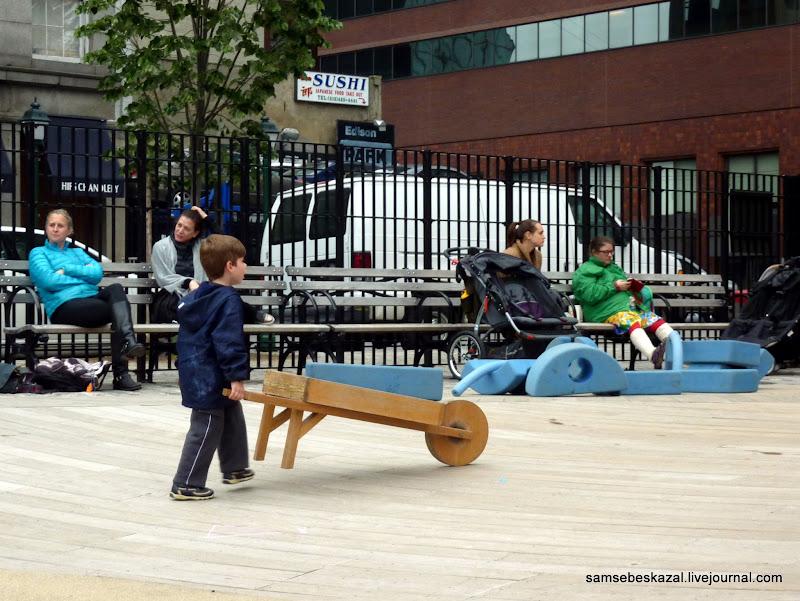 Детские площадки со всего мира. Часть 11. Площадка в Нью-Йорке на Манхэттане