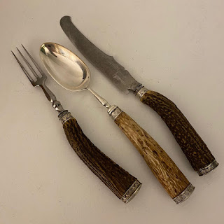 Antler Carving and Cutlery Set