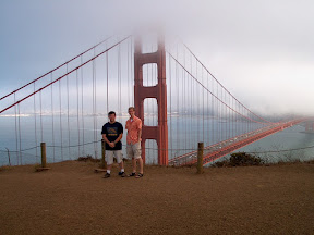 With Adam, overlooking the Golden Gate Bridge