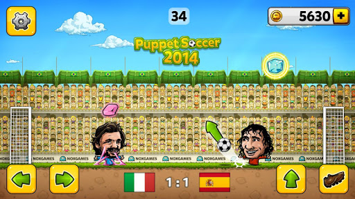 ⚽Puppet Soccer 2014 - Big Head Football ? screenshot 11
