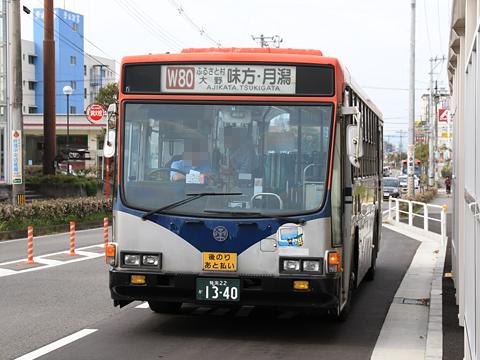 新潟交通 W80系統 1340 青山にて