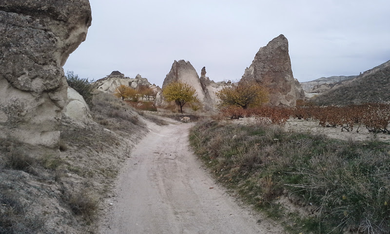 hiking to monks valley cappadocia