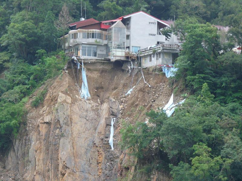 Ylan County.les dévastations du dernier typhon de début octobre 2008