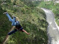 Not us - Banos bridge jump