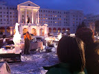 Watching the ice sculptors, January 26.