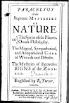 Paracelsus of the Supreme Mysteries of Nature