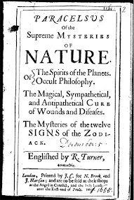 Cover of Paracelsus's Book Paracelsus of the Supreme Mysteries of Nature