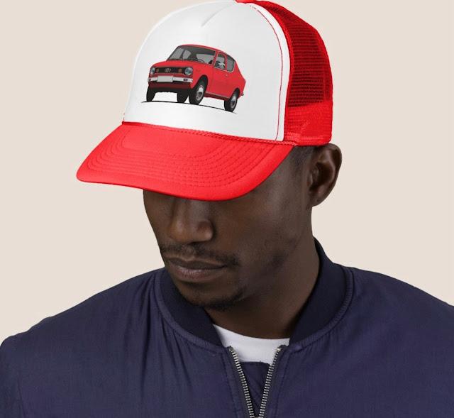 Datsun 100A / Cherry trucker hats and caps in Zazzle
