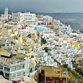 Santorini by Bill Frank - City,  Street & Park  Vistas ( greece, travel, greek islands, santorini, travel photography, travel locations )