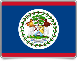 Belizean framed flag icons with box shadow