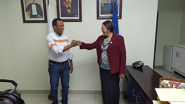 SAN JUAN DE LA MAGUANA: Administrador general de EDESUR sostiene encuentro con la gobernadora Elvira Corporán
