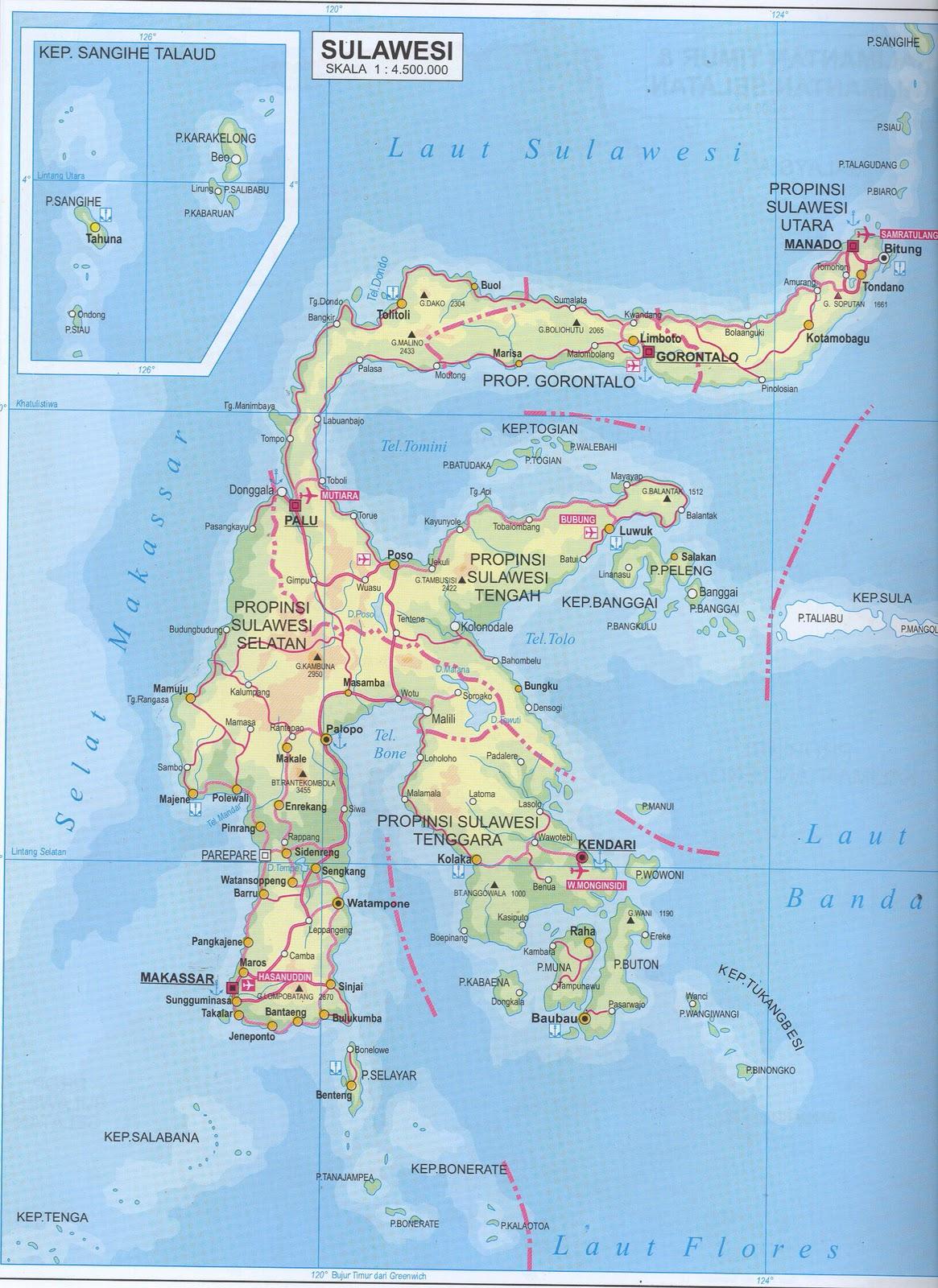 Takjub Indonesia Peta Pulau Sulawesi Wwwgambar