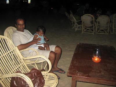 Dinner at Colva Beach