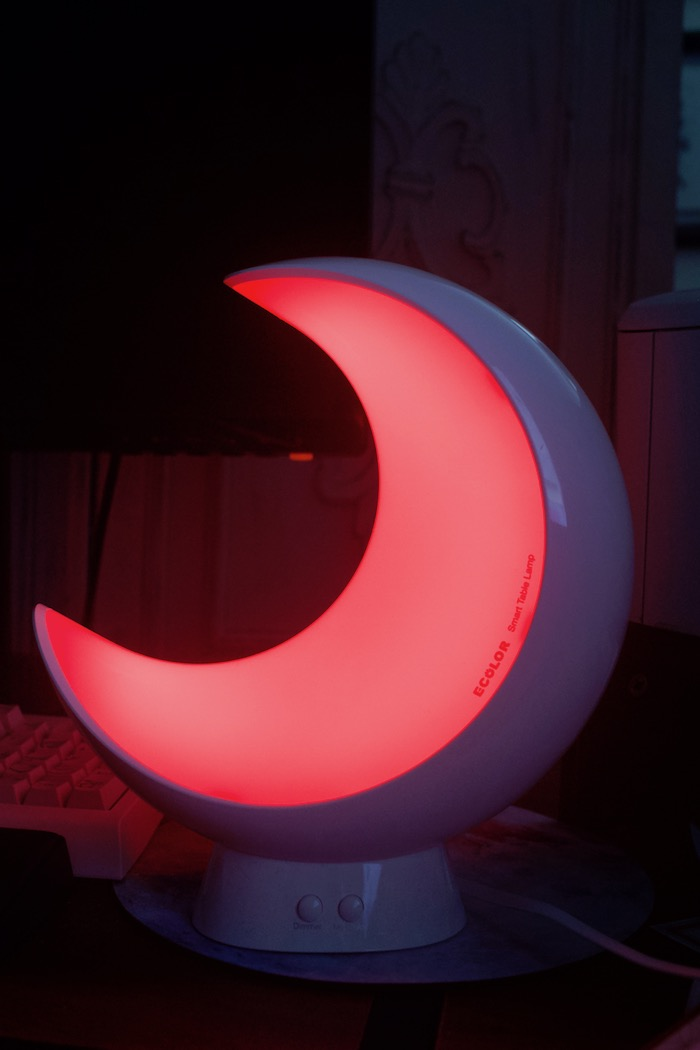 crescent moon smart table lamp