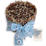 48. kép: Ünnepi torták - Rolád torta szalaggal