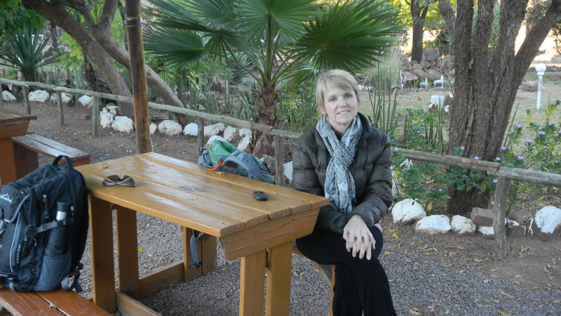 Tish at the Rasesa Lodge