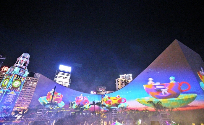 22 香港 閃躍維港 3D光雕匯演