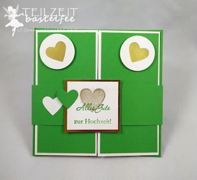 Stampin' Up! - Hochzeit, Wedding, Zum Schönsten Tag, Love & Laughter, Milk Carton, Milchkarton, Brautpaar, Hearts, Herzen, Hearts a Flutter, Gesegnet, Blessed by God