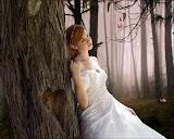 Enamored Bride In The Woods