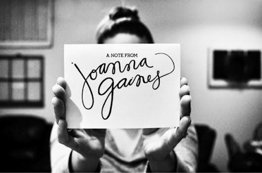 My Letter From Joanna Gaines...