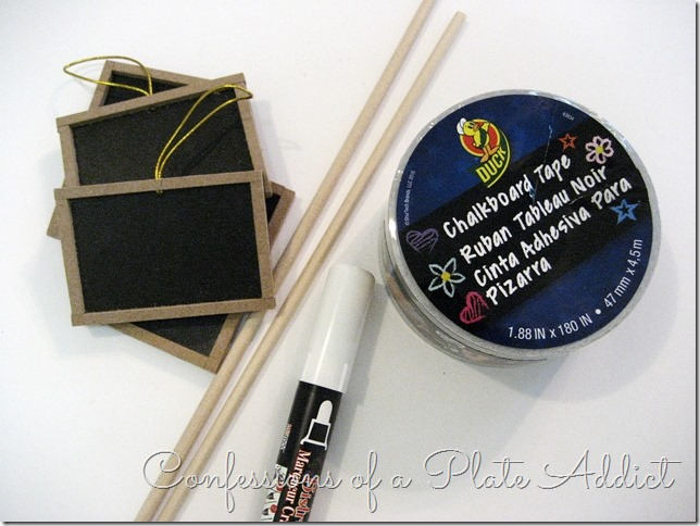 CONFESSIONS OF A PLATE ADDICT DIY Chalkboard Plant Markers supplies