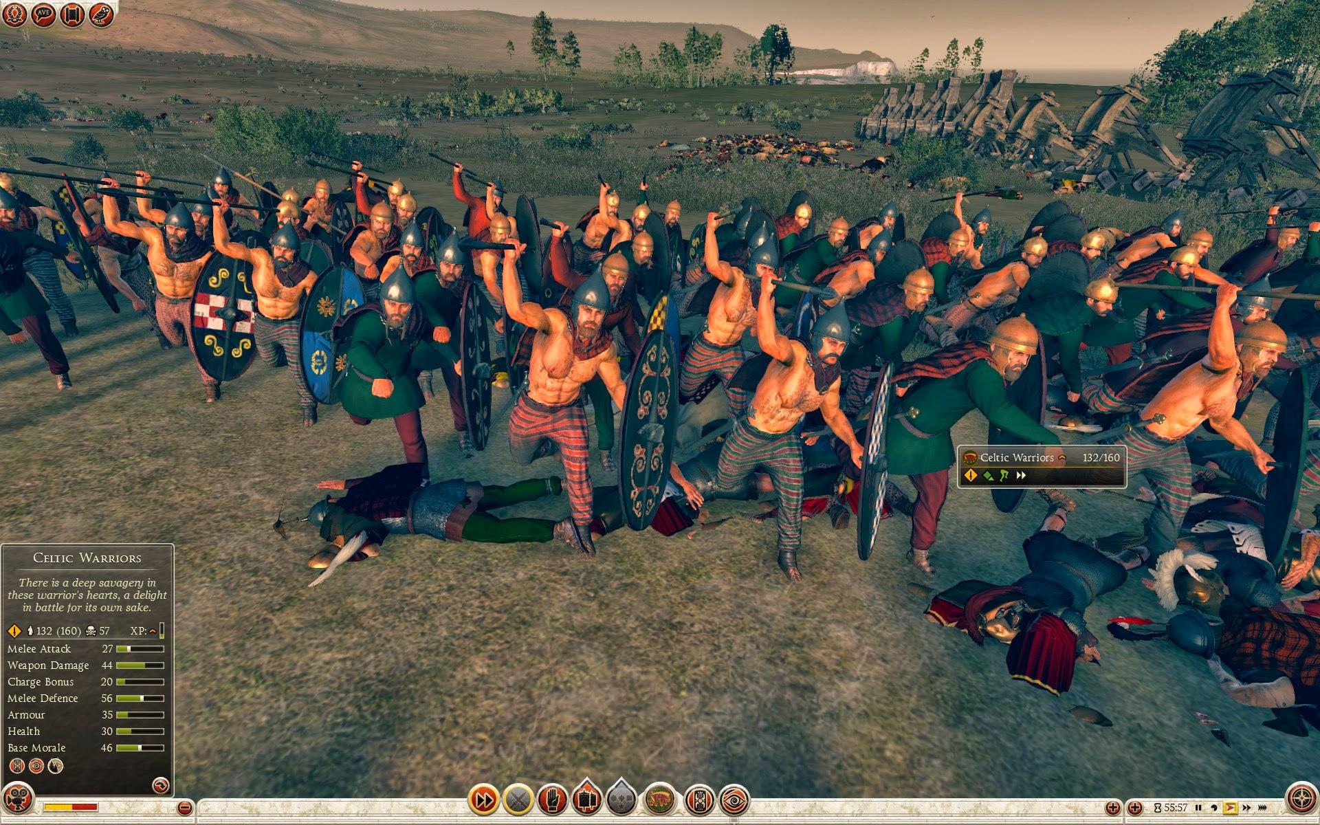 celtic warriors arverni total war rome ii royal