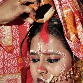 final touch by Sandipan Paul - Wedding Bride ( wedding, indian wedding, bride, nikon, portrait )