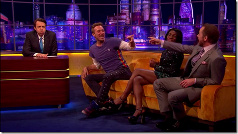 The Jonathan Ross show Coldplay Simon Pegg22
