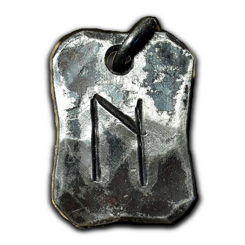 Hand-forged Uruz pendant from Wulflund Jewelry.