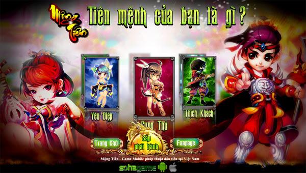 Soha Game trình làng game di động mới Mộng Tiên 2