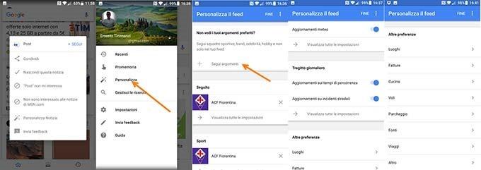 personalizza-feed