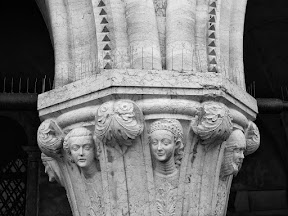 Column capital at the Doge's Palace