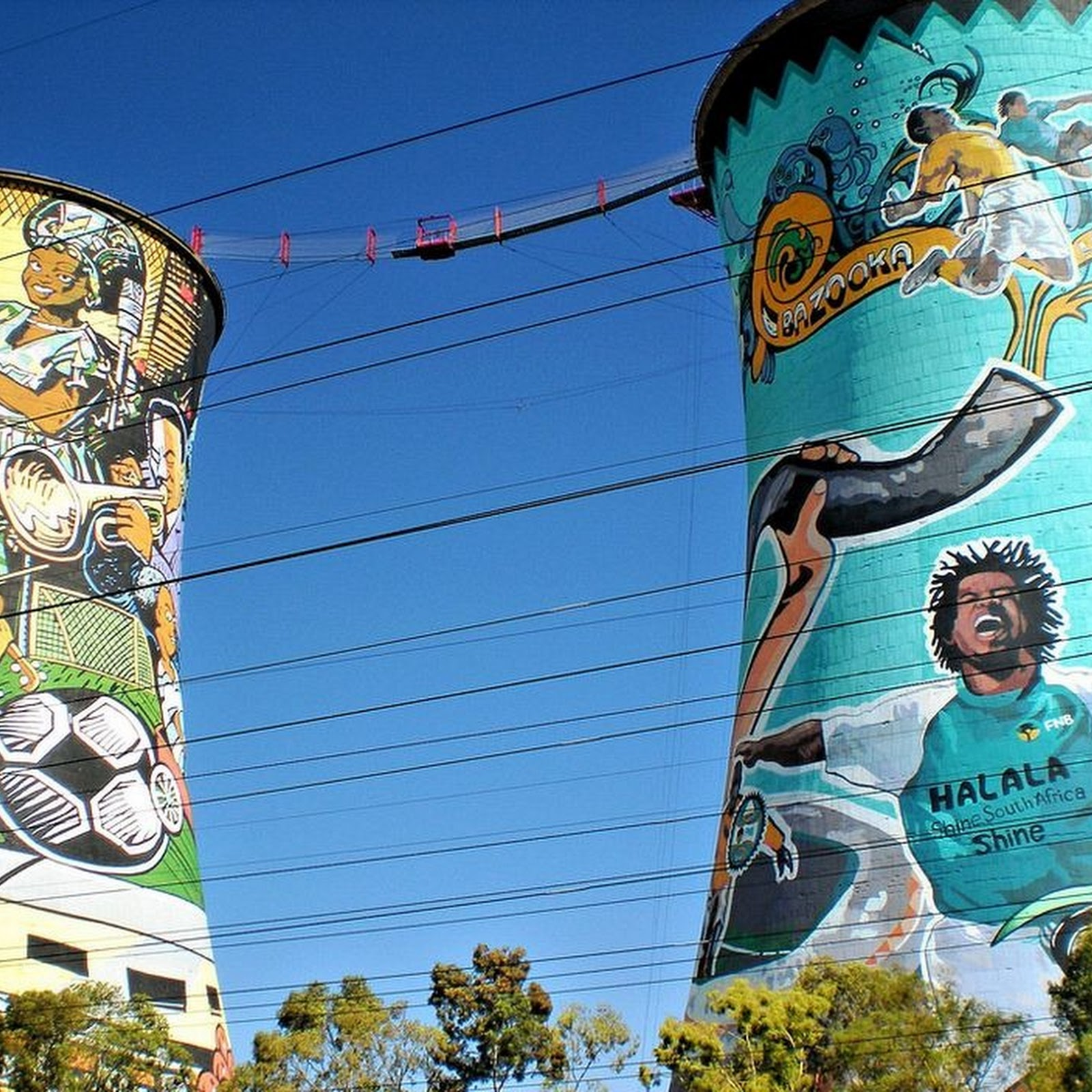Orlando Towers in Johannesburg